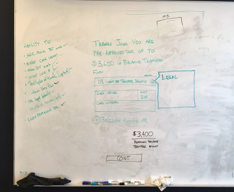 Whiteboard Sketch UX