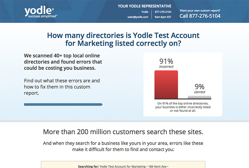 Yodle's Opportunity Assessment